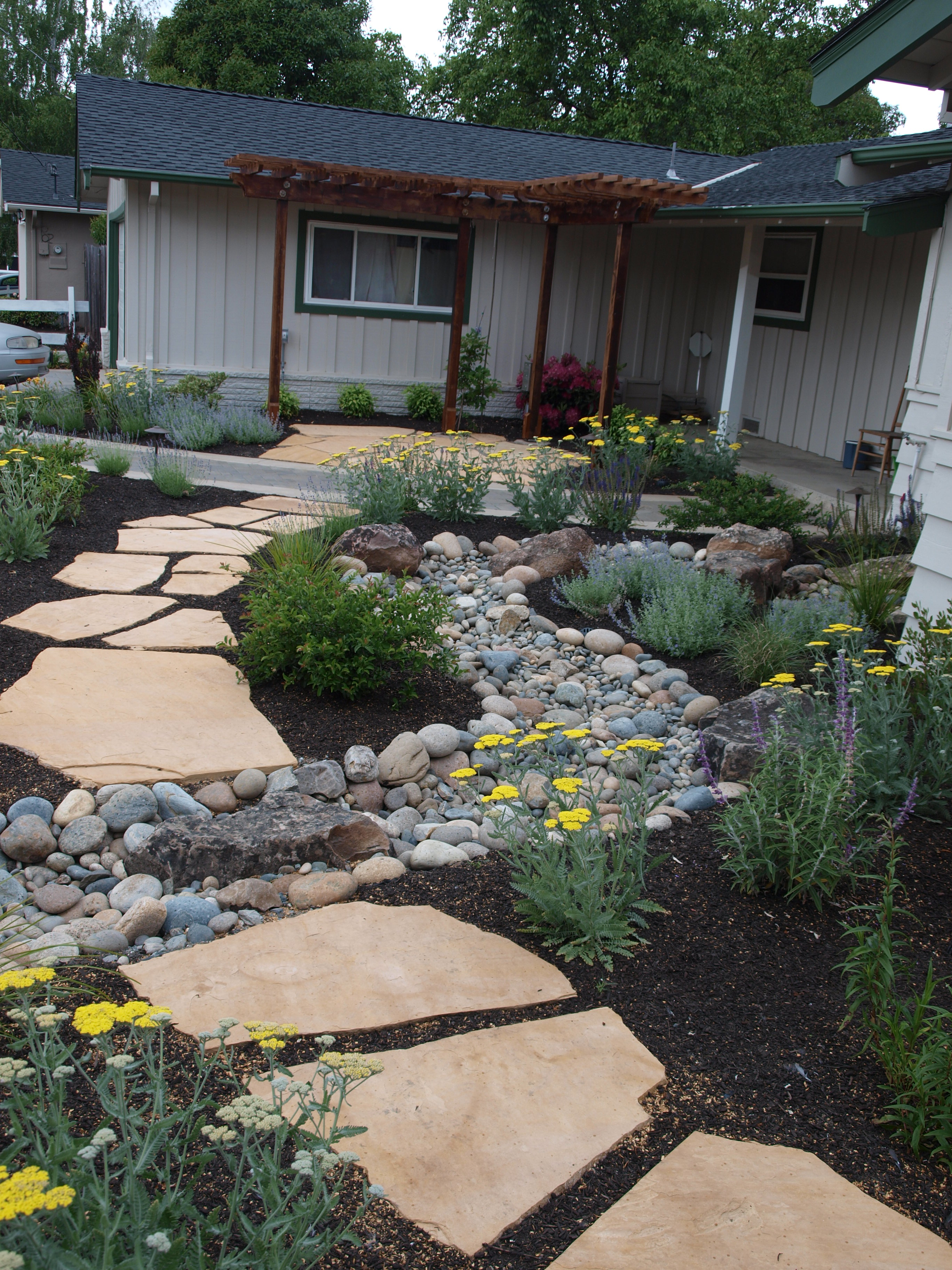 Front Walkway and Dry Creek Bed |